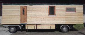 Lärchenholzwagen wintertauglich