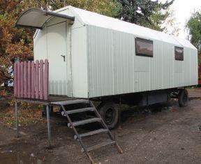 Wohnwagen mit Bad, Küche und Klimaanlage